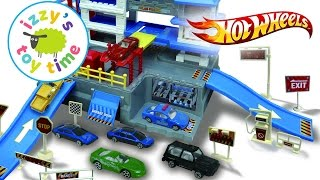 Hot Wheels and Fast Lane Police Station Playset with Kinetic Sand | Cars for Kids