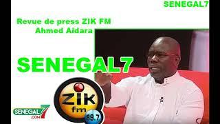 Revue de presse (Wolof) Zik fm du 6 mars avec Ahmed Aidara