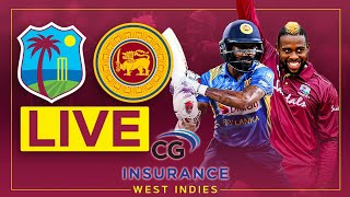 🔴LIVE | West Indies v Sri Lanka | 2nd CG Insurance T20I