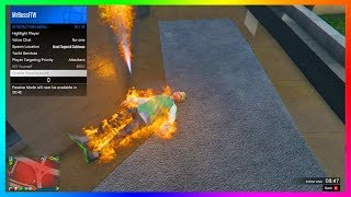 MrBossFTW Gets Trolled HARD By A Modder Playing With Fire In GTA Online!