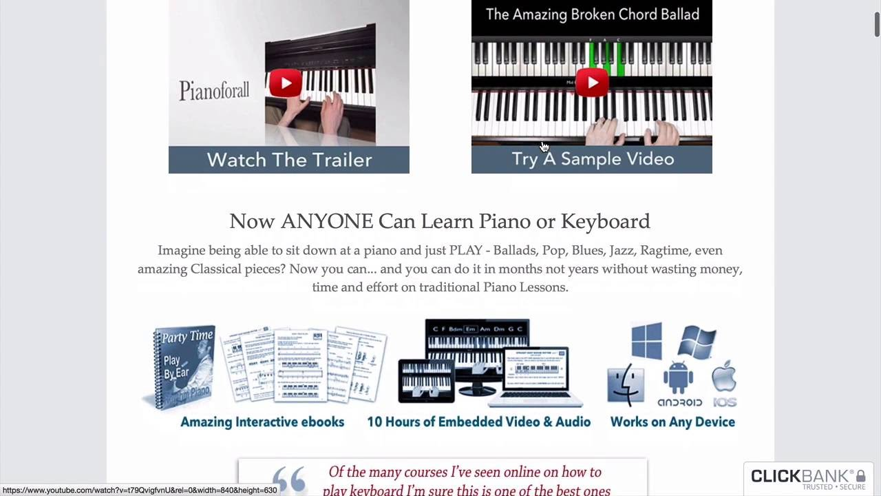 Best Online Piano Lessons | Top 4 Websites in 2019