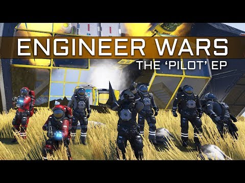Space Engineers - ENGINEER WARS #1 - ' The Pilot' 6v6 Buildoff Battle (Wedgehog v Texfire)