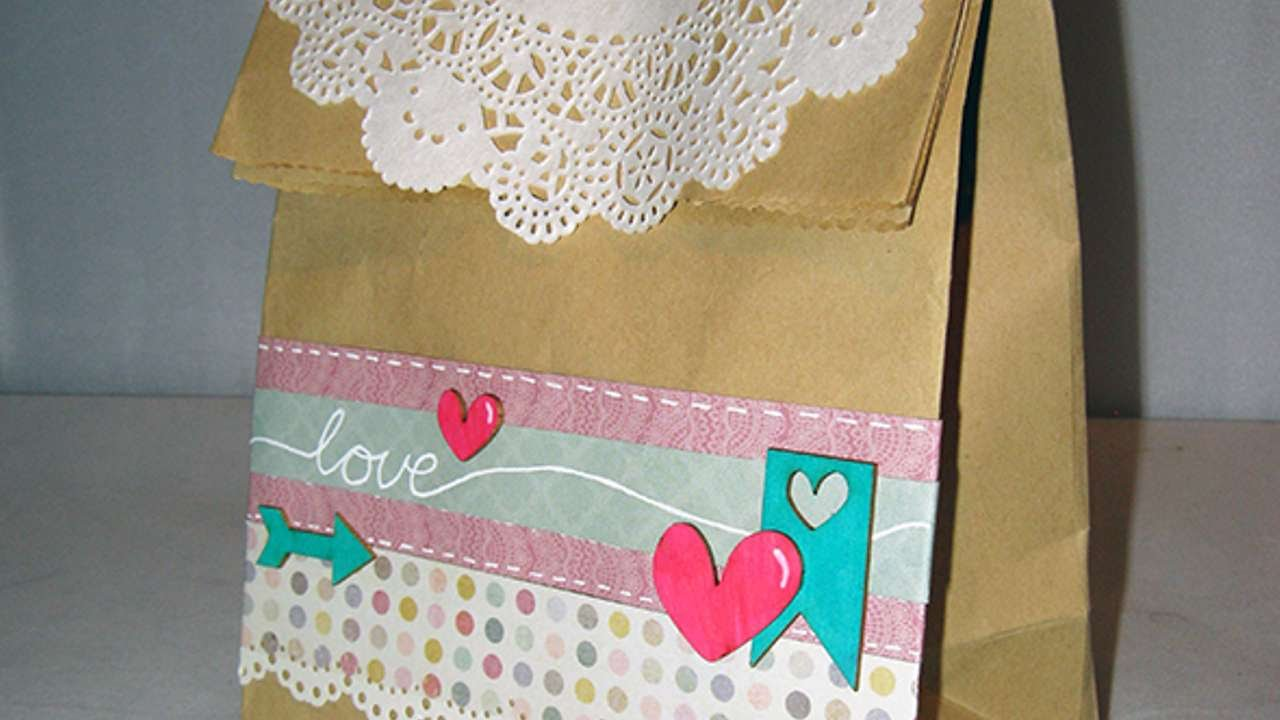 How To Create A Pretty Decorated Paper Bag Diy Crafts Tutorial
