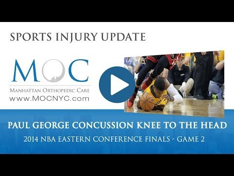 Sports Injury Update - Paul George concussion. Knee to the head. - Dr. Armin Tehrany
