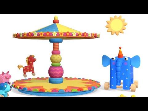 Теремок песенки для детей - Деревяшки - Карусель