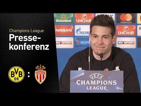 Pressekonferenz mit Thomas Tuchel Raphaël Guerreiro | BVB - AS Monaco