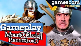 Mount and Blade 2 Bannerlords Gameplay auf unserer Bühne | gamescom 2019