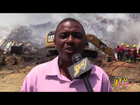 JTV NEWS UPDATE    COX HEATH DUMPSITE FIRE