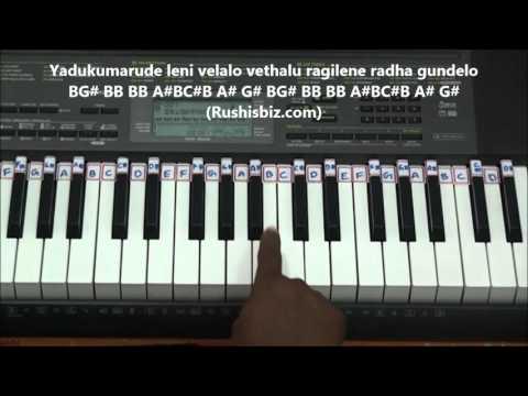 Yamuna Thatilo Piano Tutorials (Dalapathi) | 7013658813 - PDF NOTES/BOOK - WHATS APP US