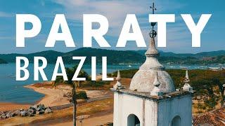 PARATY, BRAZIL. Best City To Visit near Rio De Janeiro. Travel Destinations Drone Aerial Footage 8k.