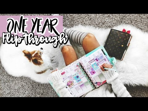 2017 PLANNER FLIP THROUGH |1 YEAR INSIDE MY HAPPY PLANNER