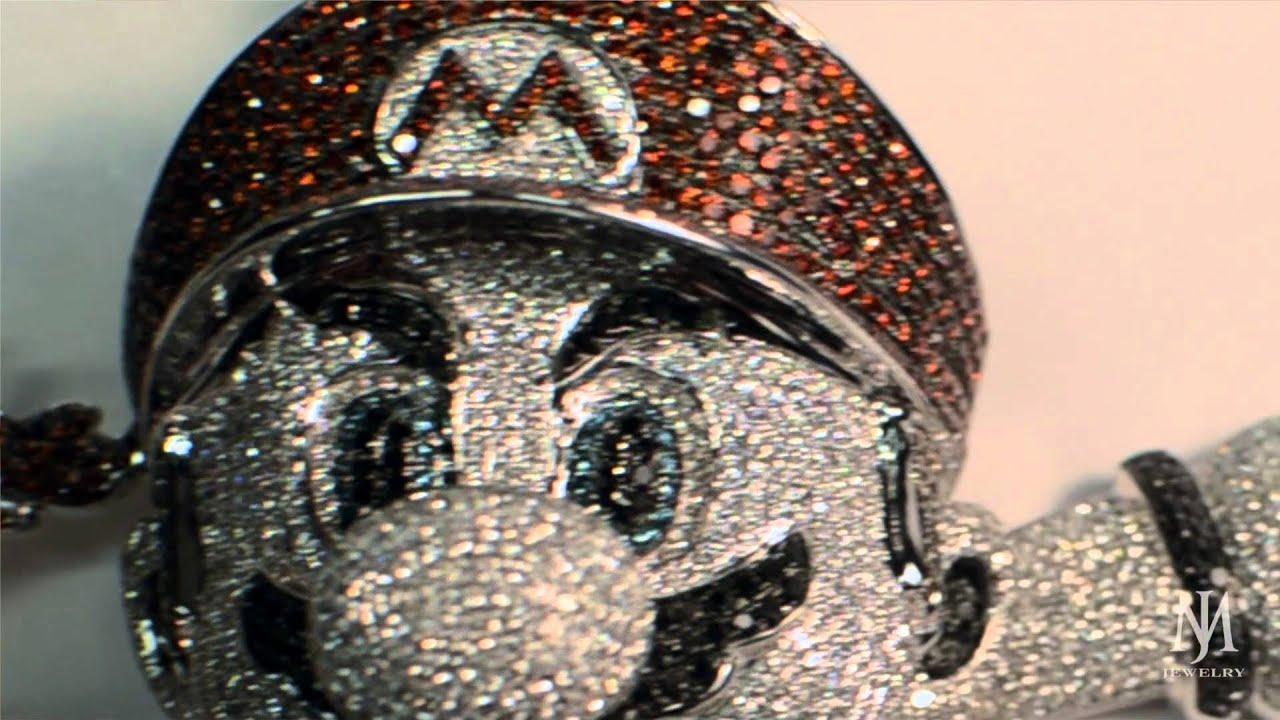 Diamond Super Mario Bros Pendant Genuine Youtube