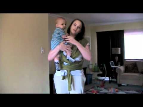 Using Moby Wrap With 7 Month Old Baby Youtube