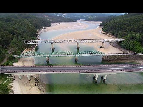 RIA DO BARQUEIRO - Los tres puentes - O Barqueiro/O Vicedo - A Coruña/Lugo (A vista de Zángano...)