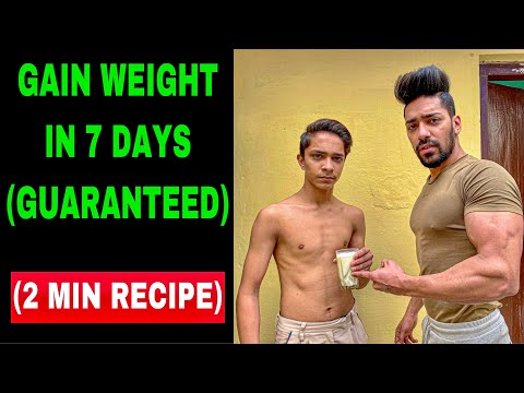 10 Kg Weight Gain In 1 Month | How To Gain Weight Naturally In Hindi