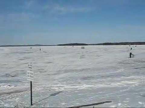 Ice Fishing On Sebago Lake