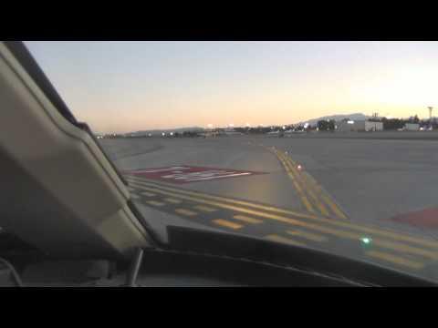 Private Jet Landing Las Vegas Cockpit View