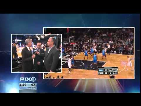 Scott Stanford Interviews Mike Breen & Ian Eagle before Knicks & Nets game.