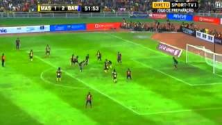 (Amazing Tiki Taka Football Inside the Box ) Malaysia vs Barcelona Asia Tour 2013