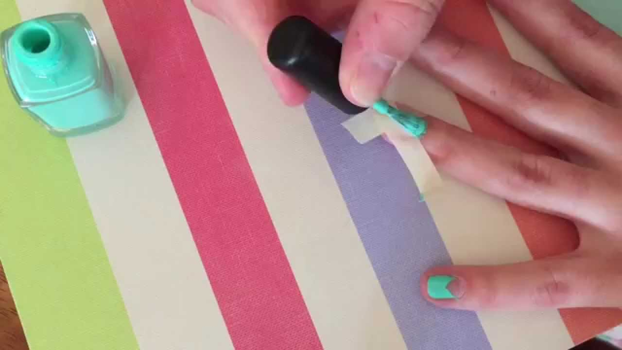 Spring Trend 2015: Negative Space Nail Art - YouTube
