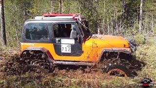 Вадим на соревнованиях волчья петля Jeep wrangler yj 42 portal axels laplander