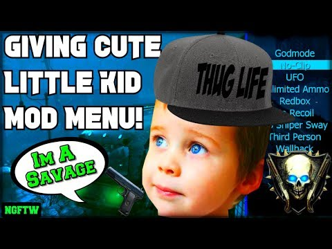 Black Ops 2 Zombies Giving Cute Little Kid A Mod Menu! (Making Cute Kid Happy With Mods!) XBOX ONE!