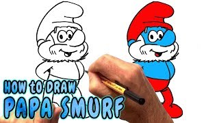 How to Draw Papa Smurf (NARRATED)