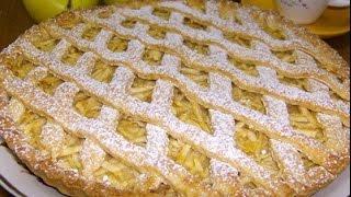 Яблочный пирог с творогом рецепт