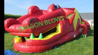 💥DRAGON BOUNCE HOUSE BLOWS UP 💥💣💥💣 BOUNCY HOUSE 💖 BOUNCING HOUSE 💖 BOUNCY CASTLES 💖 BOUNCING