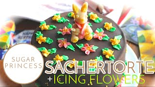 Sachertorte: Motivtorte - Tutorial - How To Bake A Sacher Cake And Decorate It With Icing Flowers