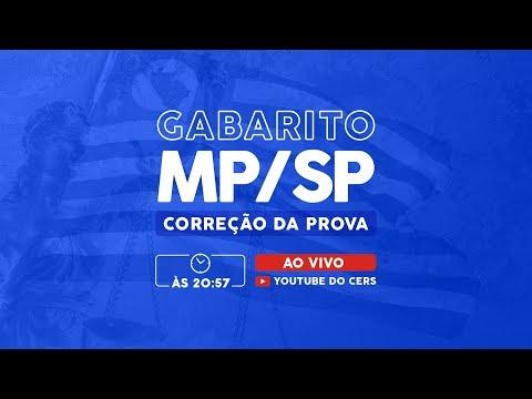Gabarito MP/SP | Correção da Prova