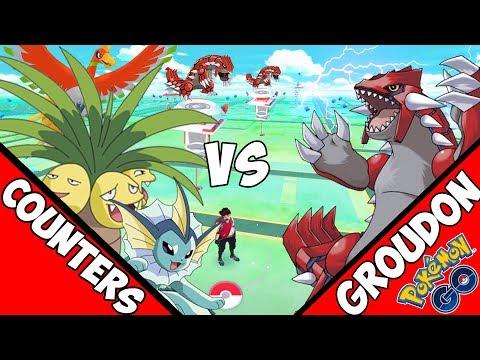 Los mejores Pokemons contra Raid Groudon Pokemon GO- Incursiones Legendarias y Regionales