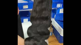 Body Wave Wig 13x4 Lace Front Human Hair Wig 150 Density Pre Plucked Lace Frontal Wig Natural Color