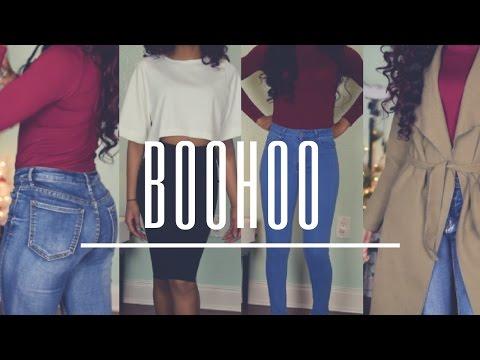 4046fff8e518 HUGE BOOHOO HAUL   Unpacking + Try-On (Jeans, Coats, Skirts, Jackets)
