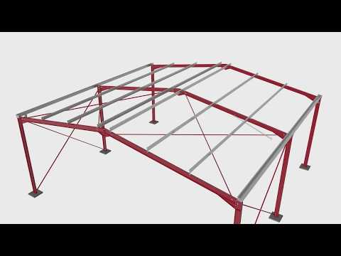 Steel portal frame building construction