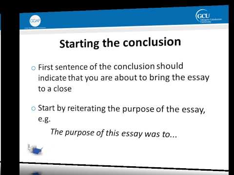 Writing a conclusion for an essay.?