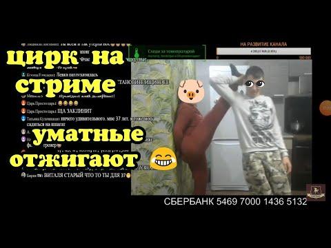 Виталик ,Ангелина и Конюх/ЦИРКОВОЕ ШОУ/АЛКОСТРИМ
