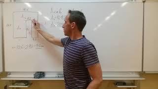Fläche und Umfang von zusammengesetzten Flächen - (Rechteck und Quadrat) - FIGUR 3 (Maße in cm)