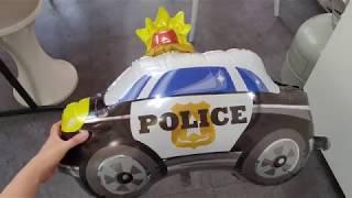 경찰차자동차풍선 남자아이선물 생일파티