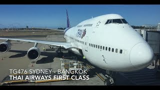 First Class THAI Airways TG476  SYD-BKK with Pro-tips and SilverKris First Class Lounge Sydney