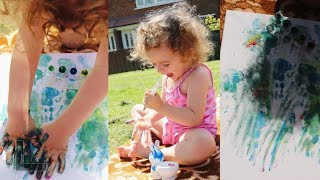 Painting Outside With Athena 💖
