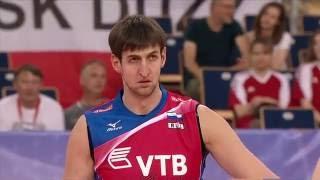 Волейбол. Россия - Франция. Алексей Бакаев