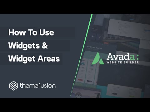 How To Use Widgets & Widget Areas Video