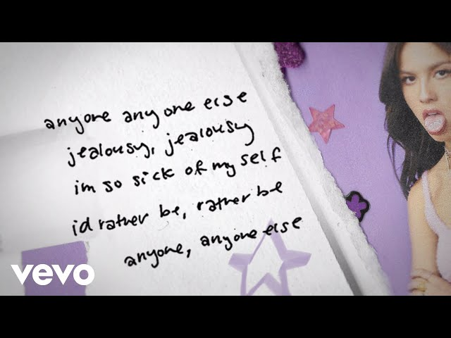 Olivia Rodrigo - jealousy, jealousy (Lyric Video)