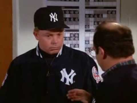 Seinfeld: George sabotages the Yankees by changing uniforms to cotton
