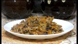 Абсолютно успешный Рецепт Гречка в горшочке с грибами в духовке/ Гречка с грибами и луком в горшочке