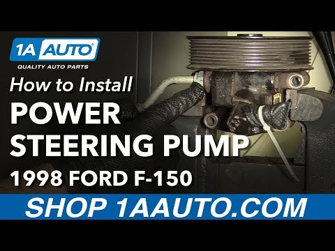 How to Install Replace Power Steering Pump 1998 Ford F-150