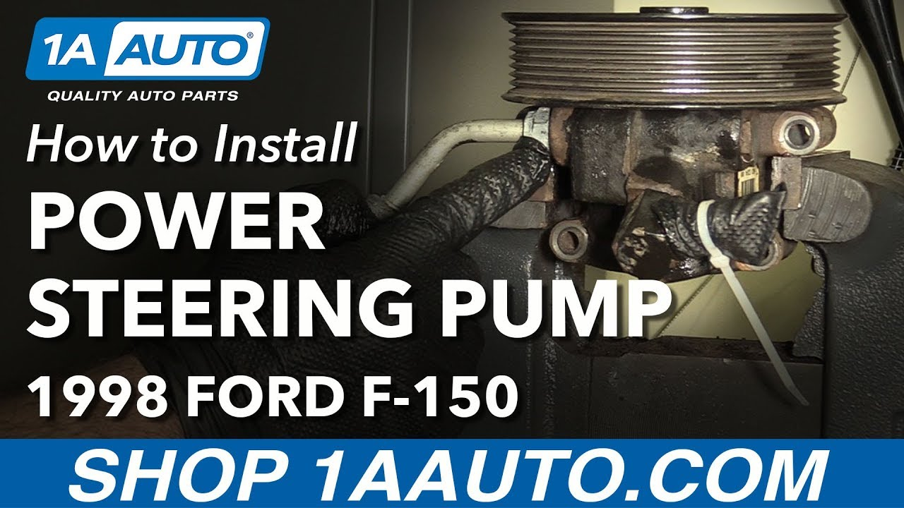 How to Replace Power Steering Pump 9704 Ford F150  YouTube