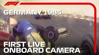 The First Onboard Camera In A Formula 1 Race | 1985 German Grand Prix