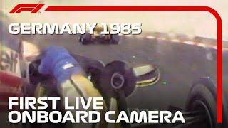The First Onboard Camera In A Formula 1 Race | 1985 German Grand Prix